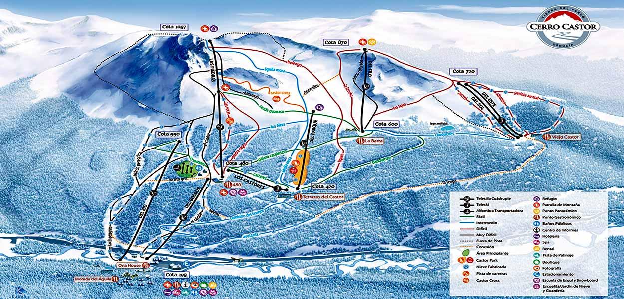 Pistas de esquí del Cero Castor - Las mejores excursiones desde Ushuaia
