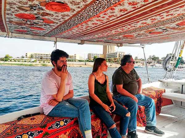 Opinión de viaje a Egipto de Jorge y familia - contemplando el Nilo