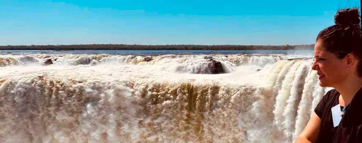 Testimonio de viaje a Argentina de María y Fran: María en Iguazú