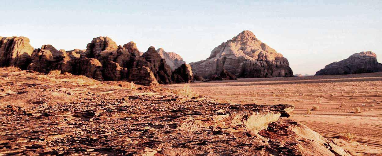 Una panorámica de Wadi Rum, hecha por Ana y familia