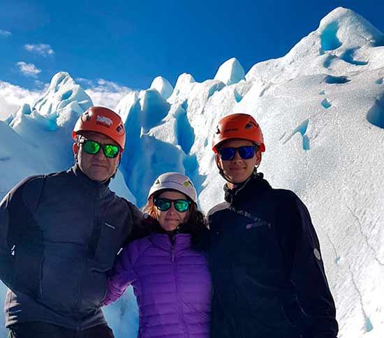 Testimonio del viaje a Argentina y Chile de Rosa y familia: trekking del glaciar Perito Moreno