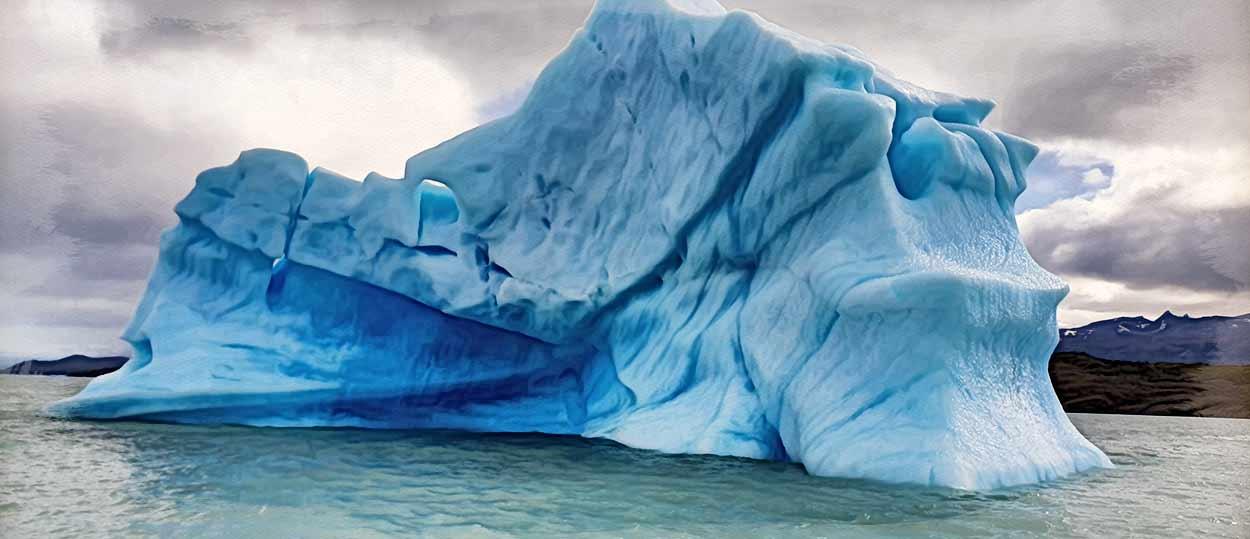 Testimonio del viaje a Argentina y Chile de Rosa y familia: un iceberg en el Lago Argentino (Calafate)