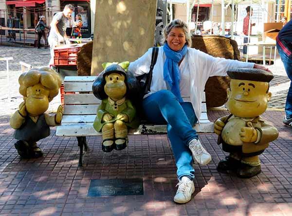 Opinión de Viaje a Argentina y Chile de María Luisa: plaza de Mafalda, San Telmo, Buenos Aires