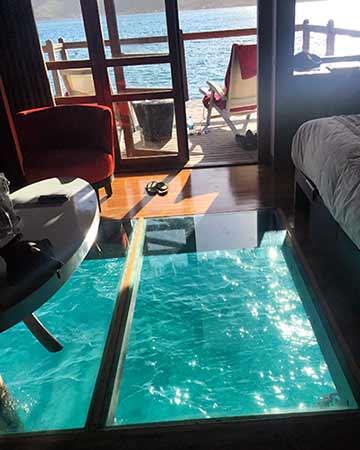 El interior de su Overwater Premium End of Pontoon Bungalow (Le Méridien Bora Bora) - Valoración de viaje a Polinesia de Gema y David