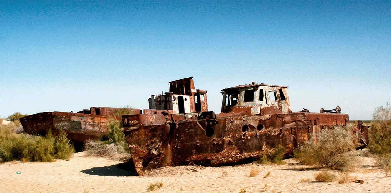 programa Uzbekistán con mar de Aral, en servicio compartido