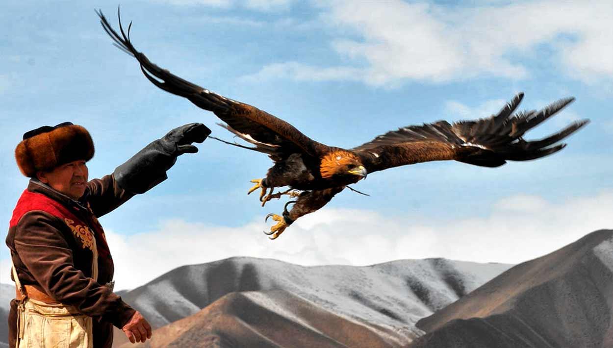 Cetrería con águilas - Kirguistán