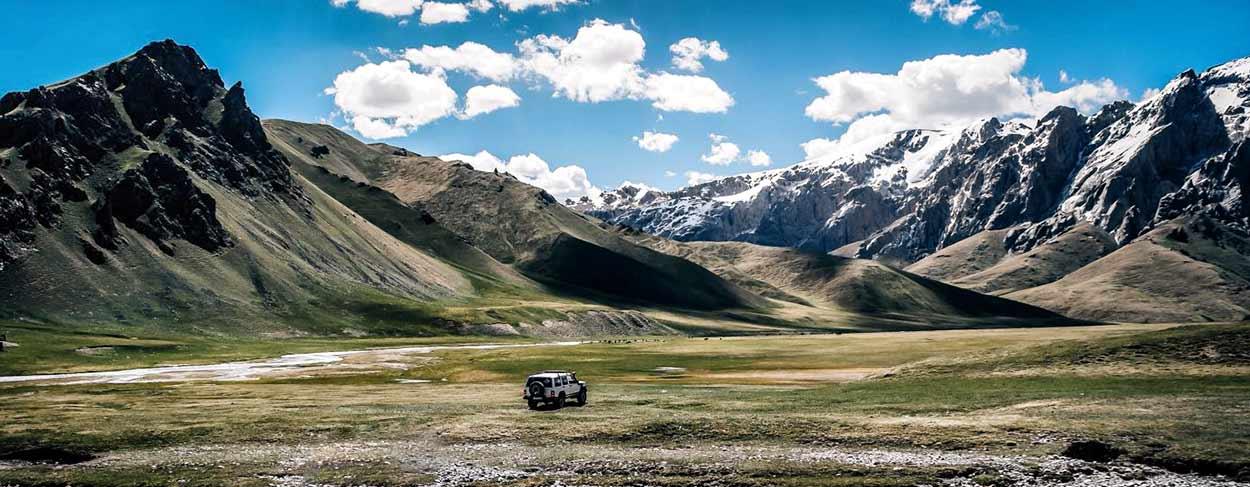 todoterreno de alquiler en Kirguistán