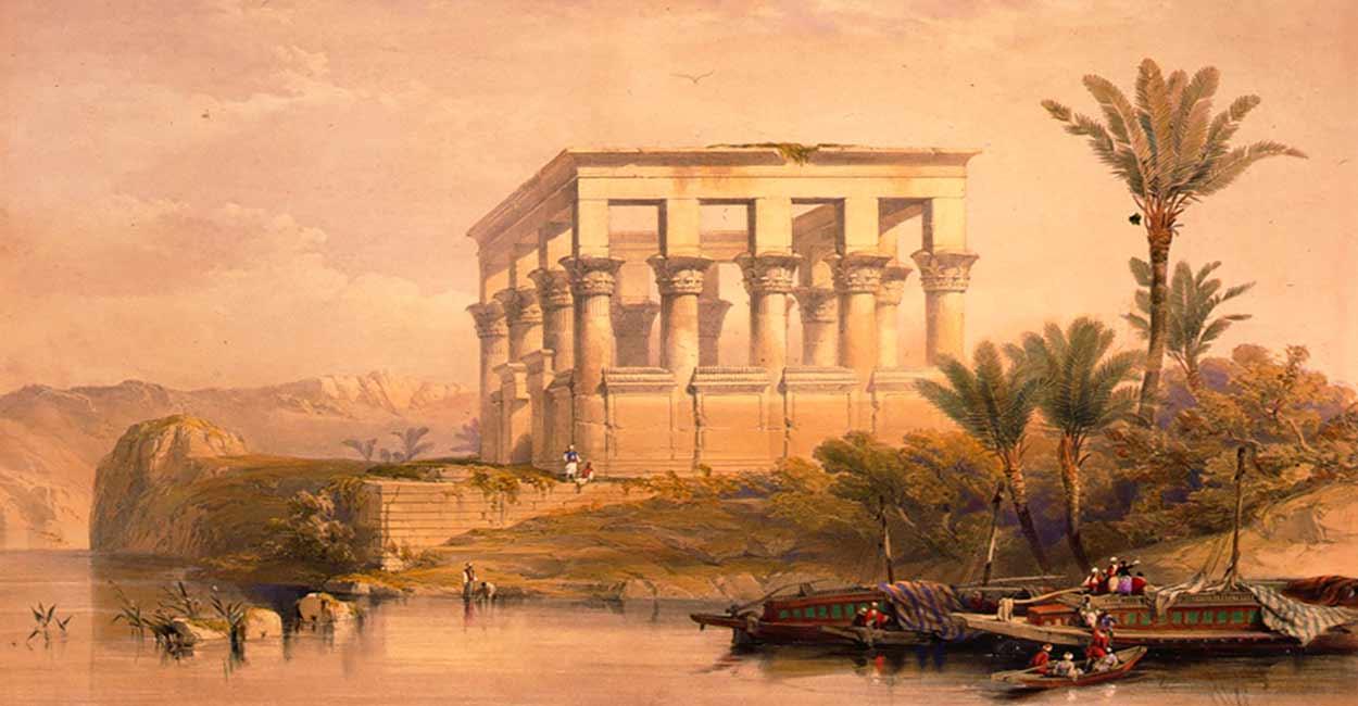 Egipto de 10 noches de lujo y en privado (pintura: David Roberts)