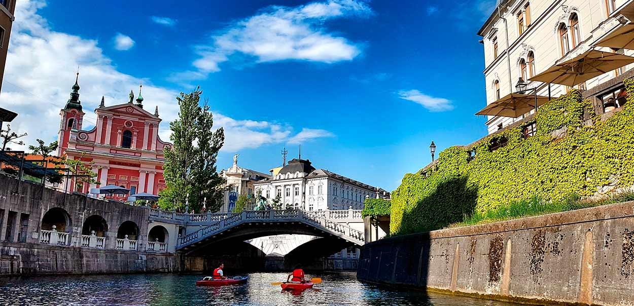 Liubliana, la capital de Eslovenia - Eslovenia Turismo - Ljubljana River - Image by traveldudes from Pixabay