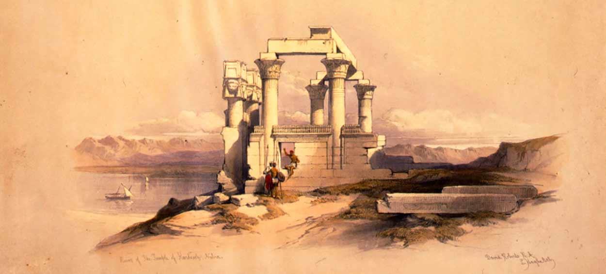 Egipto en privado de 7 noches con gran museo egipcio - dibujo: David Roberts