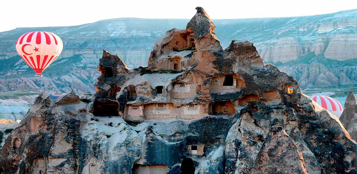 Sitios rupestres de Capadocia - turismo de Turquía